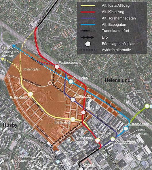 tvärbanan utbyggnad karta YIMBY lämnar in yttrande om förstudie för Tvärbana Norr  tvärbanan utbyggnad karta